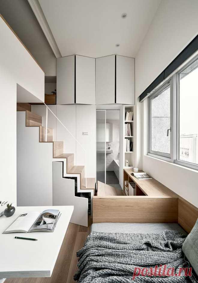 Показываю, как живет китаянка в студии 17,6 м2. Интерьер получился функциональным и практичным   1000 идей для маленьких квартир   Яндекс Дзен