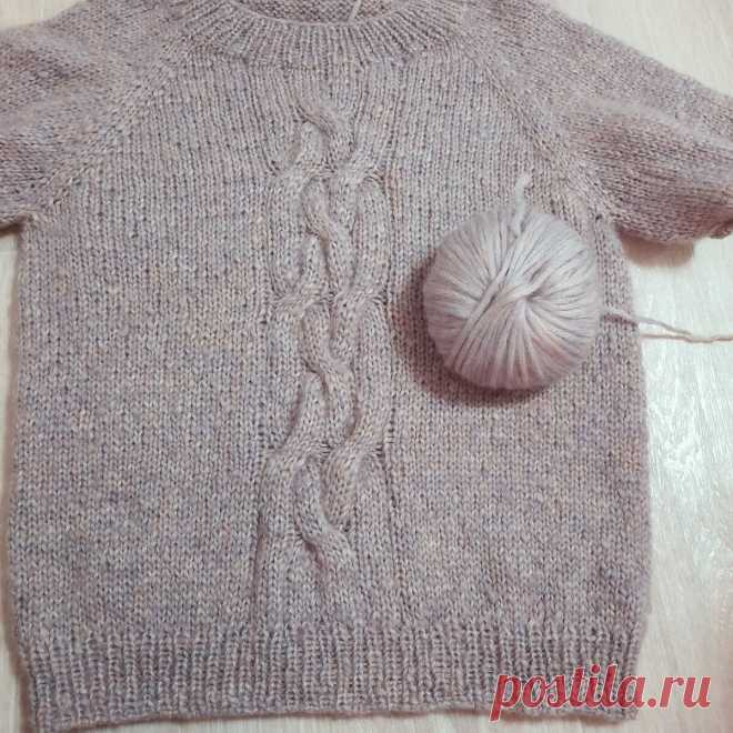 Реглан сверху: вяжу свитер онлайн (часть 3)   Студия Hand Made   Яндекс Дзен