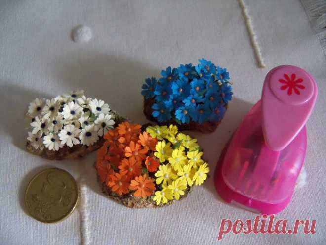 Foro de Belenismo - Vegetación -> Flores y plantas con perforadoras de papel