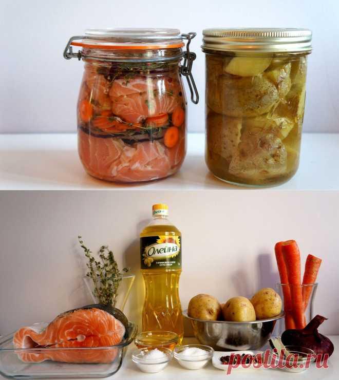 Семга и картофель в масле / Готовим с Олейной / Олейна