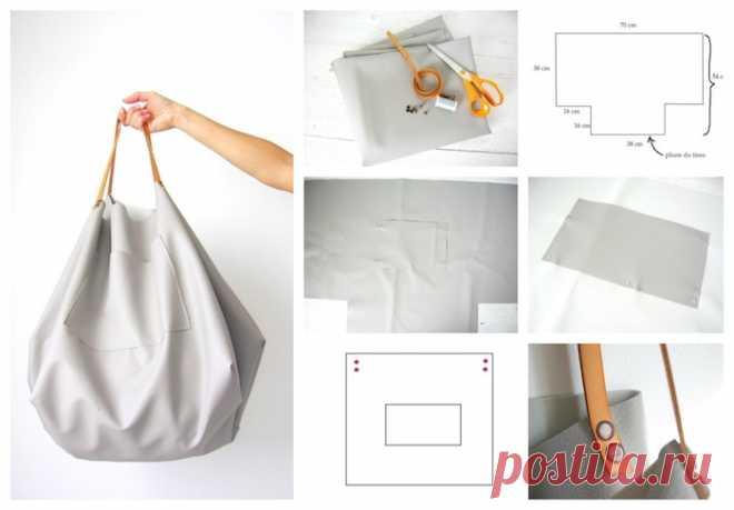 Сумка-баул с очень простой выкройкой Модная одежда и дизайн интерьера своими руками