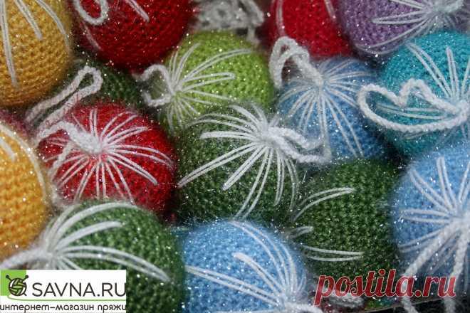 МК по вязанию елочных шариков -Мастер-классы