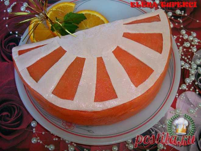 Именинный торт «Долька апельсина» (МК от Елены)