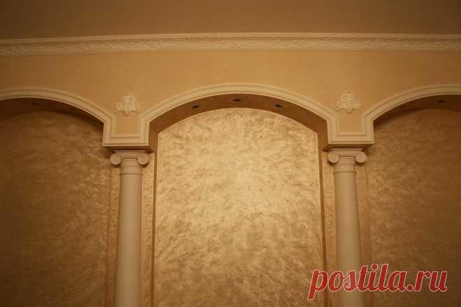 Use of decorative plaster \