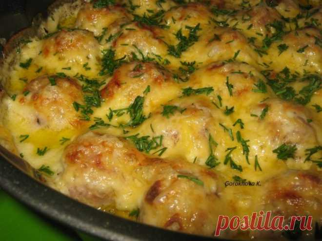 Очень вкусные и сочные запеченные фрикадельки в соусе!