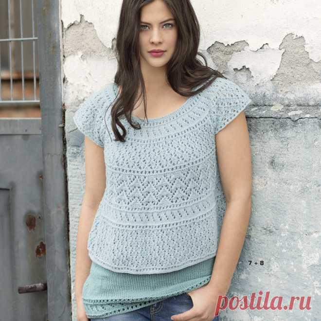 Комплект из топа и блузы - схема вязания спицами. Вяжем Комплекты на Verena.ru