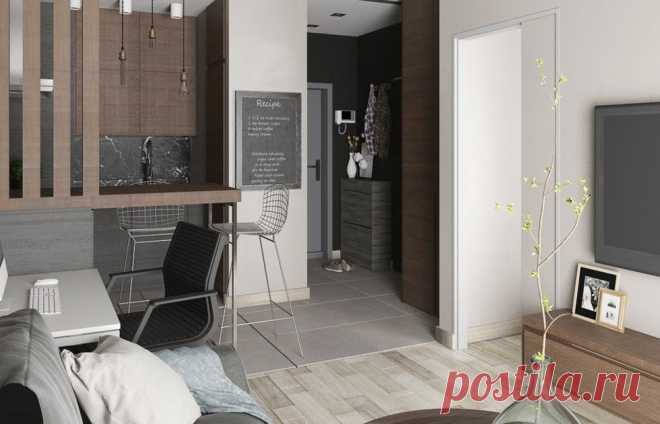 Проект недели: двухкомнатная квартира на 34 квадратах — INMYROOM