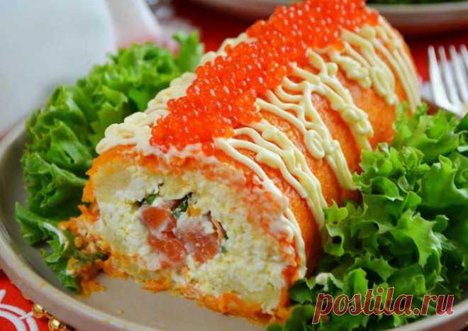 Бесподобно вкусный салат-рулет