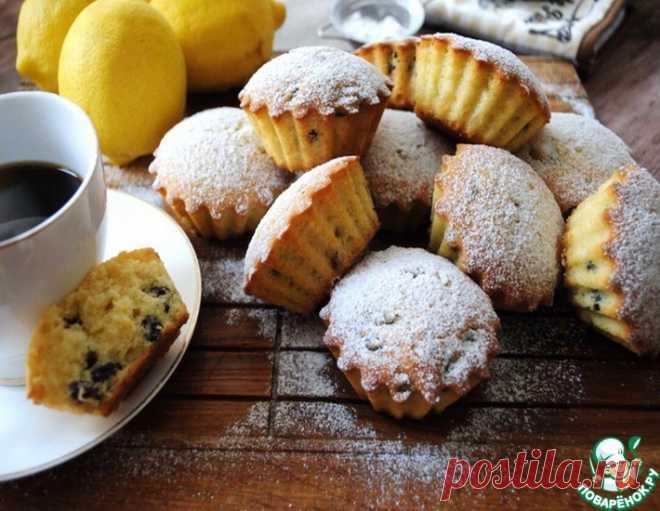 Лимонные кексы на кефире – кулинарный рецепт