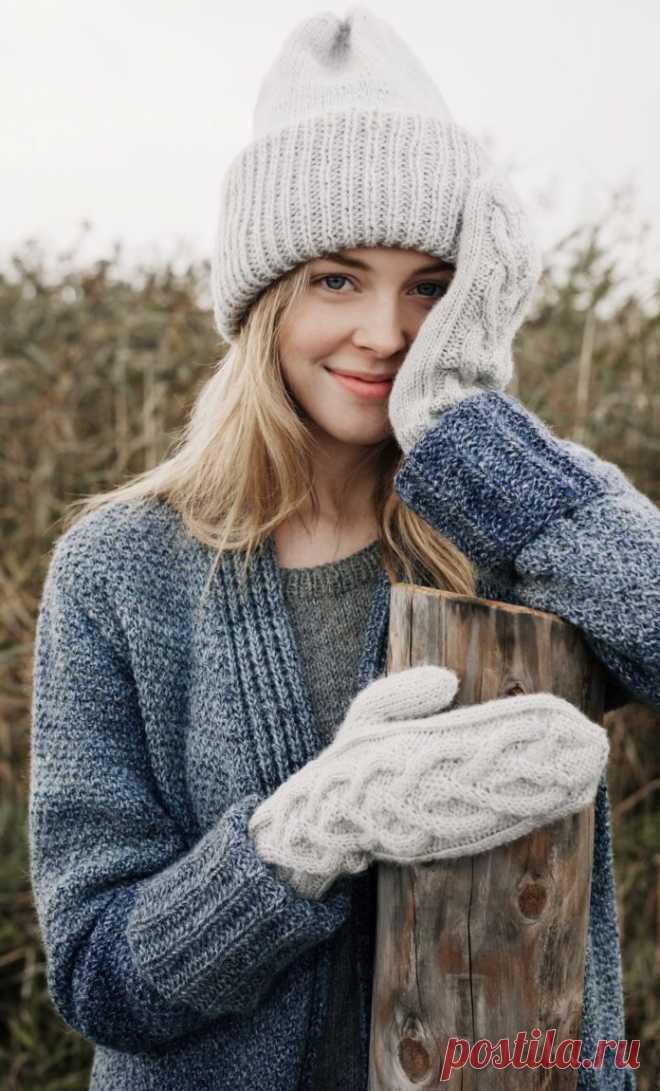 Шапка тыковка с отворотом спицами - Портал рукоделия и моды