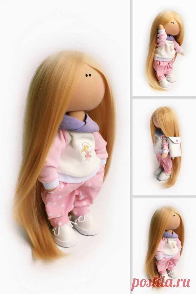 Cloth Rag Soft Doll Muñecas Pink Textile Doll Bambole di   Etsy