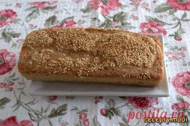 Хлеб с кунжутом в духовке - простой рецепт