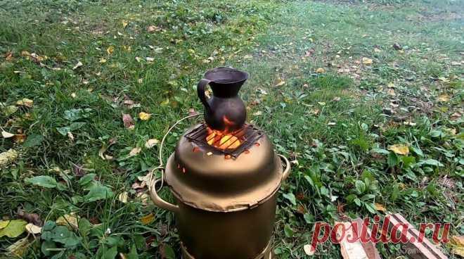 Печь 2 в 1 из старых кастрюль и миски (без сварки) Всем привет, решил сделать себе печь на случай отключения электричества, а такие случаи в деревне не редкость. Первостепенная задача – возможность приготовить кофе на такой печке, а также что-то сжарить на сковородке или даже сварить супа, ну или еще чего. В качестве материала отлично подходят