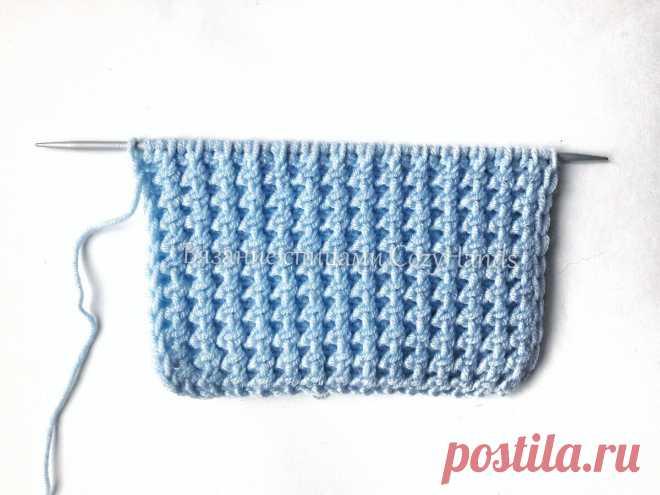 Оригинальная резинка спицами для вязания шапок, манжет и горловины свитеров, джемперов | Вязание спицами CozyHands | Яндекс Дзен
