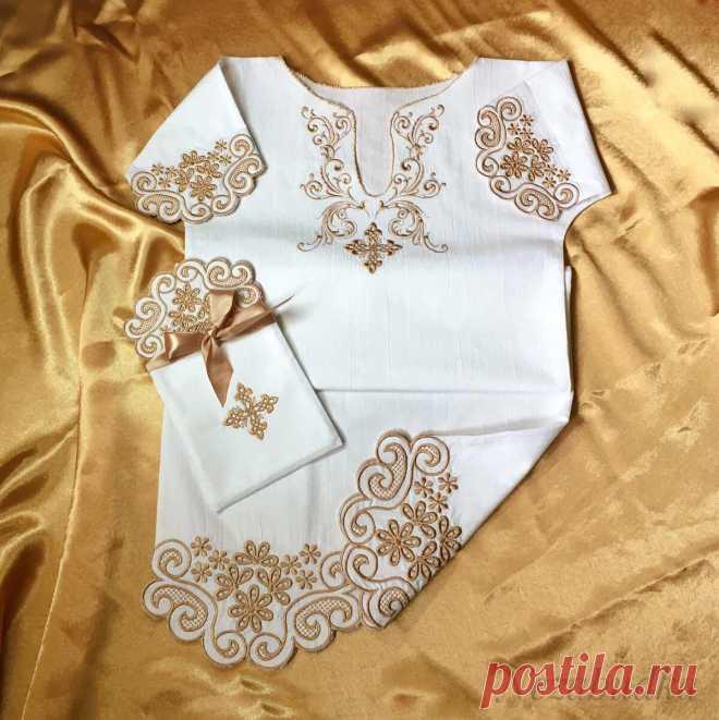 Когда срочно нужна крестильная рубашка - простая выкройка на любого ребенка   Мастерская Незабудки   Яндекс Дзен