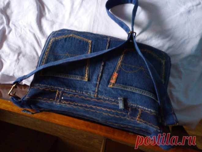 Из старых джинсов сумка своими руками |