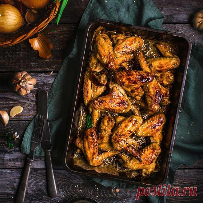 Вкусные запеченные куриные крылышки — пошаговый рецепт с фото