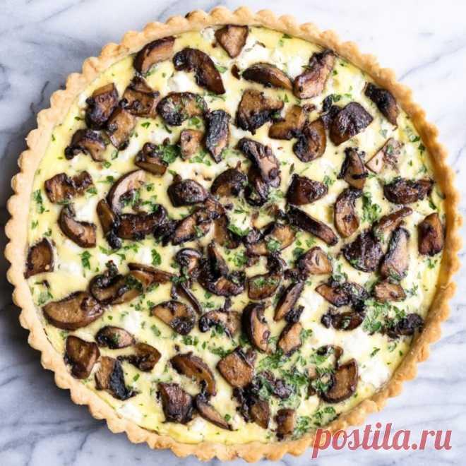 Киш с сыром и грибами — Sloosh – кулинарные рецепты