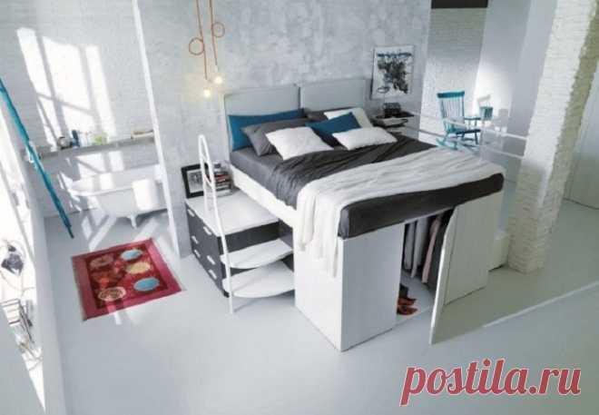 Хранение вещей под кроватью - один из лучших вариантов экономии пространства