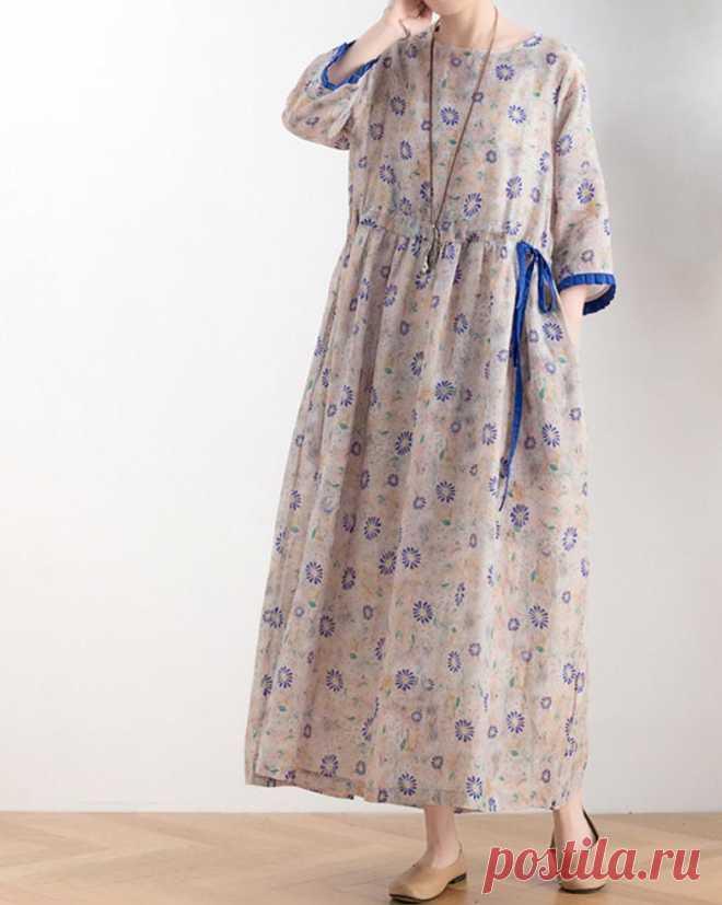 Summer maxi dress long ramie dress Women Flare Dresse   Etsy