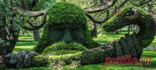 Зеленые скульптуры в Монреале