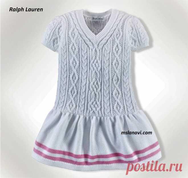 Белое платье для девочки   Вяжем с Лана Ви