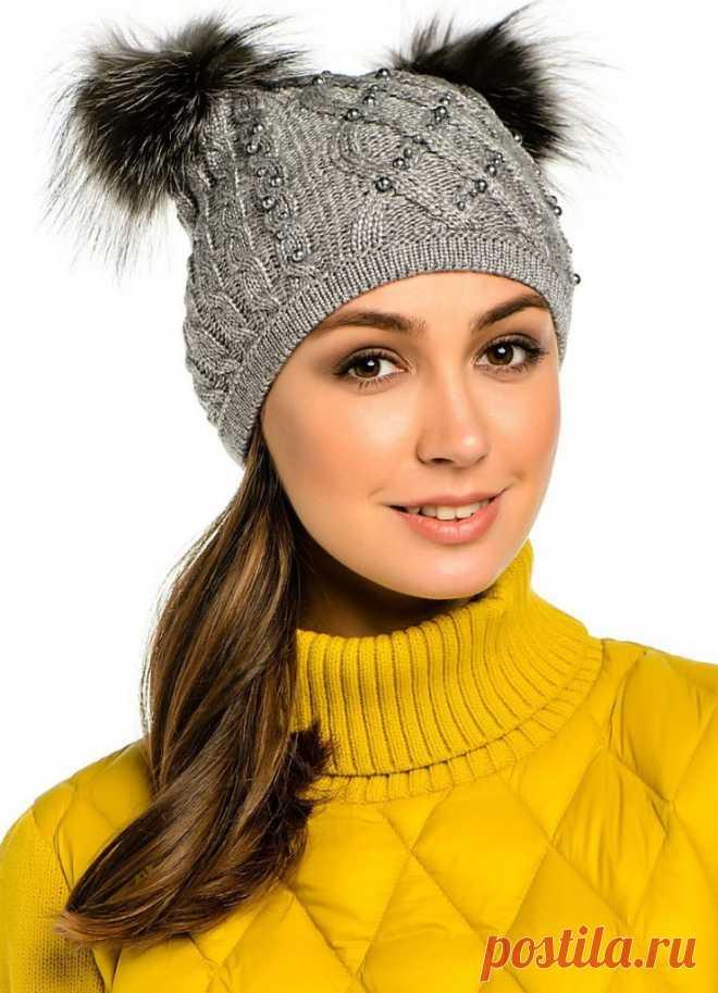 Как украсить вязаную шапку или берет для женщины своими ...