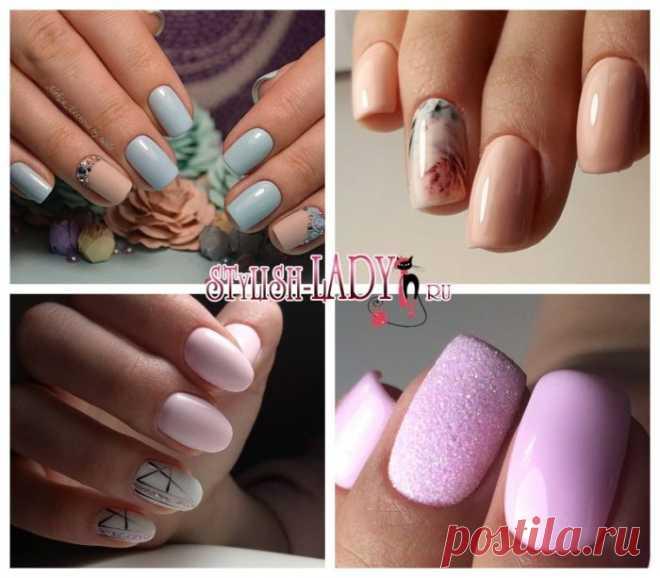 Пастельный маникюр на коротких и длинных ногтях - идеи с фото