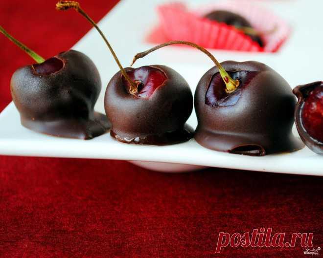 Вишня в шоколаде - кулинарный рецепт на Повар.ру