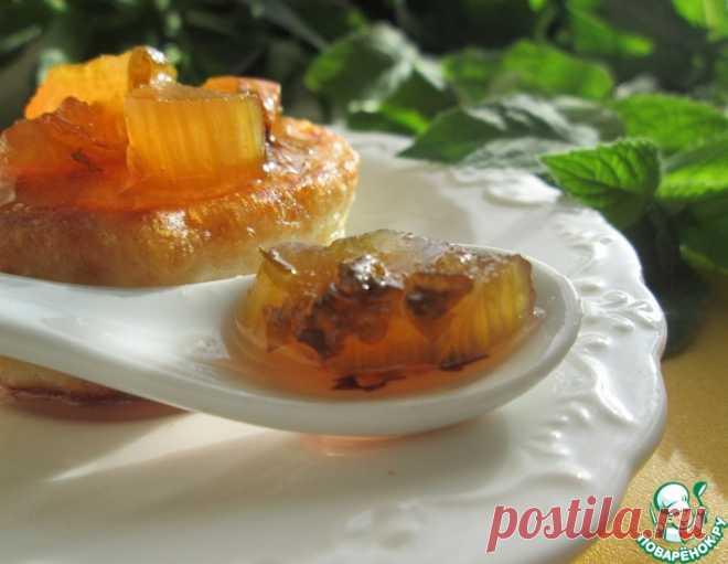 Варенье из ревеня с мятой – кулинарный рецепт
