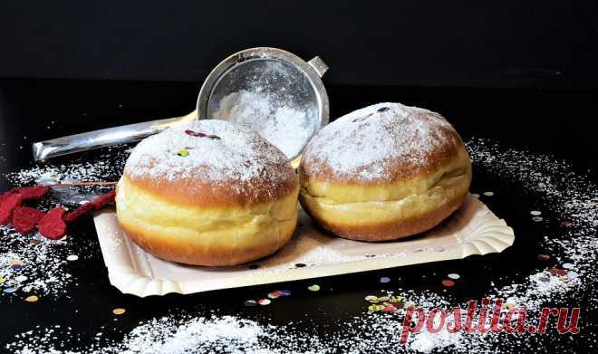 Невообразимо нежные пончики с легкой начинкой - просто объедение! - Ёк-макарЁк