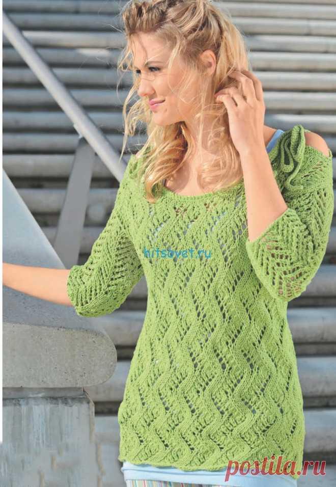 пуловер с коротким рукавом схемы