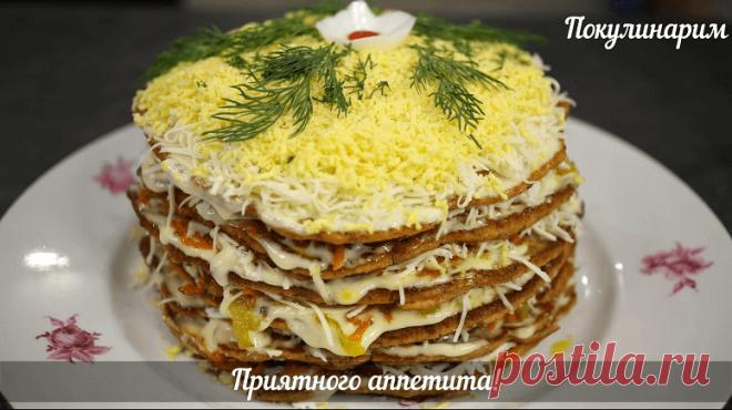 Закусочный торт из кильки в томате – оригинальная закуска, которой можно удивить гостей | Рекомендательная система Пульс Mail.ru