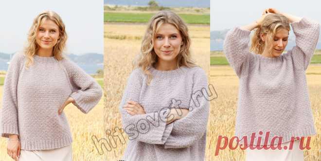 Вязание свитера Lavender Sprinkles - Хитсовет