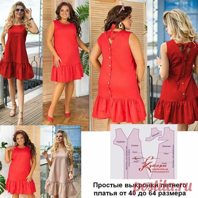 Простые выкройки для начинающих красивого летнего платья больших размеров и как его сшить   Шьем с Верой Ольховской   Яндекс Дзен