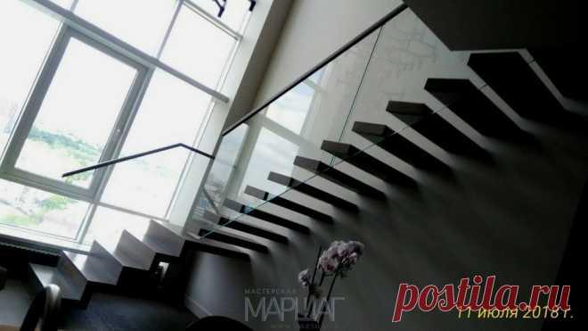 Изготовление лестниц, ограждений, перил Маршаг – Лестница консольная установленна