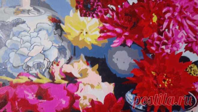 Цветотерапия в картине по номерам   Золотое рукоделие   Яндекс Дзен