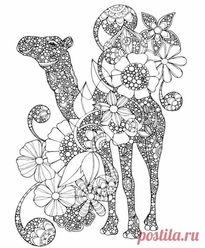 2 Unids Creativo Para Colorear Animales Mandalas Libro Para