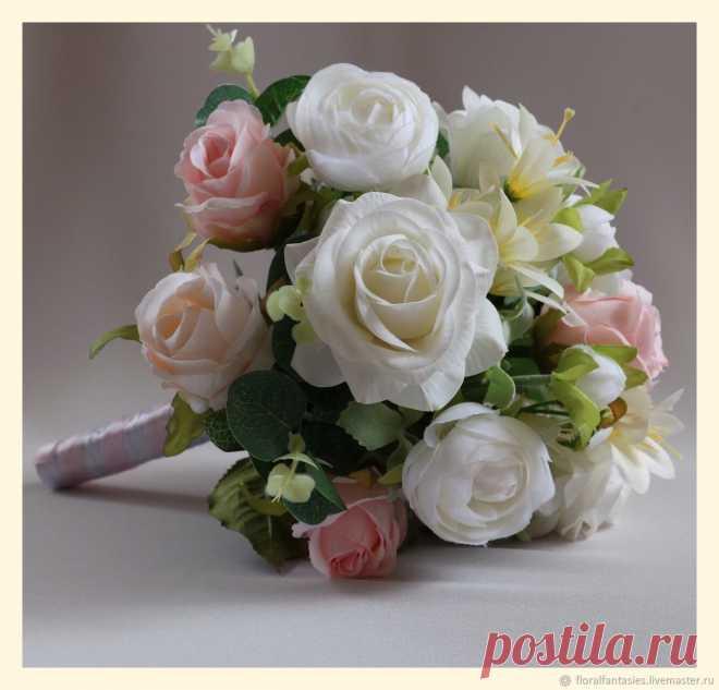 Букет-дублер для невесты из искусственных цветов — img 12