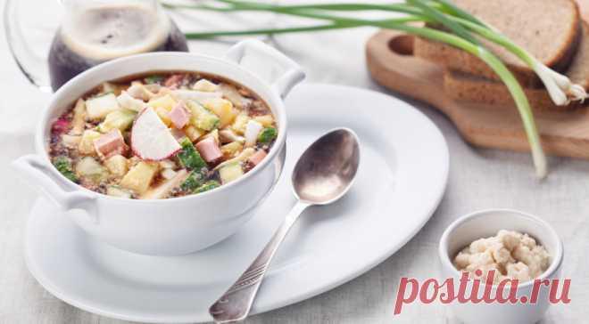 Идеальный суп для жаркого дня! Окрошка с хреном | Вкусные рецепты