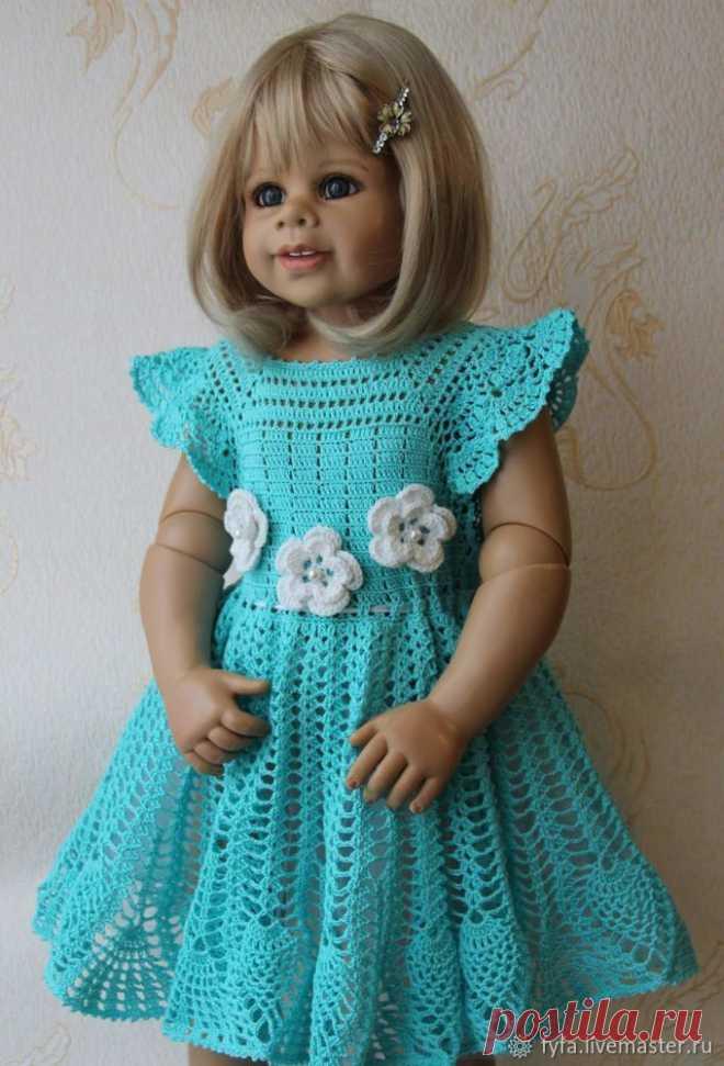 Вяжем платье для девочки крючком «Голубка» | Журнал Ярмарки Мастеров