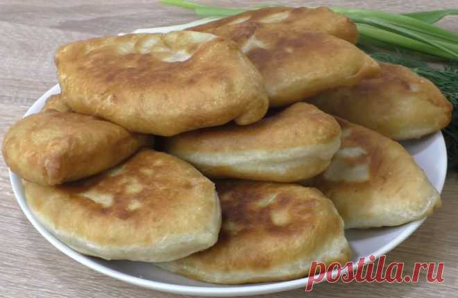 Жареные пирожки с картошкой. Быстрое тесто на кефире