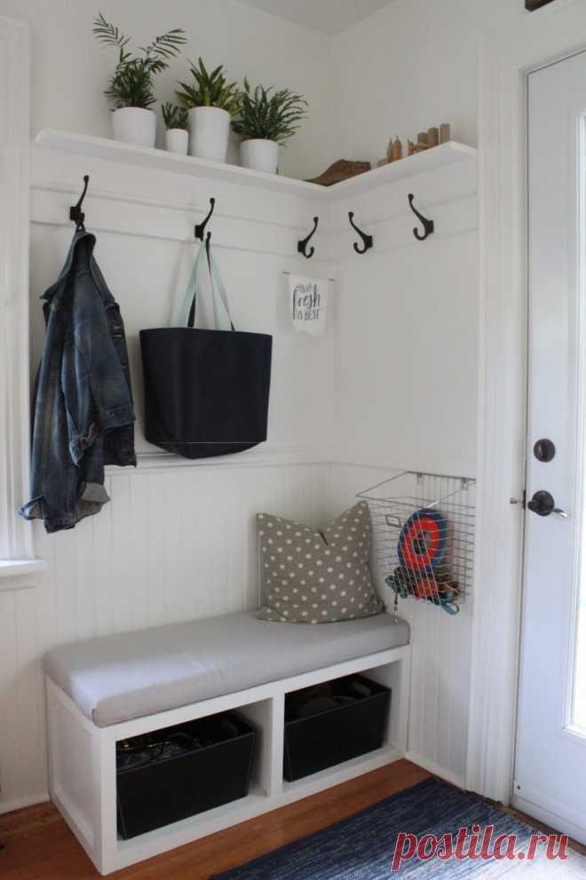 Идеи хранения в маленькой прихожей   Мой дом