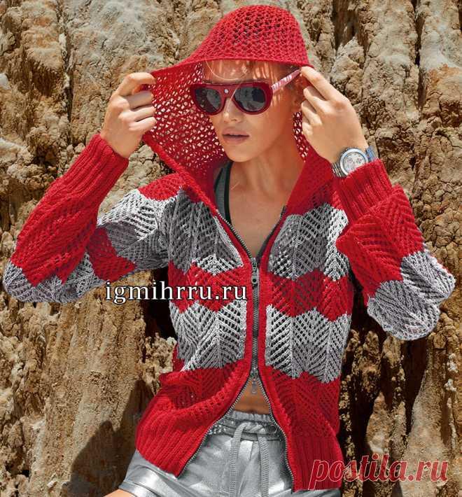 цитата VitushkinaNA : Красно-серая куртка с капюшоном и на застежке-молнии. Вязание спицами (07:28 20-07-2017) [4798531/418275219] - popikovamaria@gmail.com - Gmail