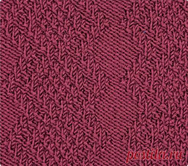 Узор с полосами из рельефных ромбов