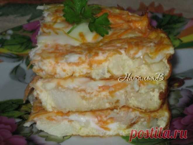 Tasty and juicy fish omelet — a fine dinner for children \u000a\u000a\u000aTasty it is also useful!\u000a\u000a\u000a\u000a\u000a\u000a\u000a\u000a\u000a\u000aIngredients for one portion:\u000aFillet of fish (pollock, cod, hake, cod) — 80 gmorkov — 0,5 shtyaytso — 1 shtmoloko — 50 mlsol\u000aPreparation:\u000a\u000aWe boil fillet of fish to gotovnost …