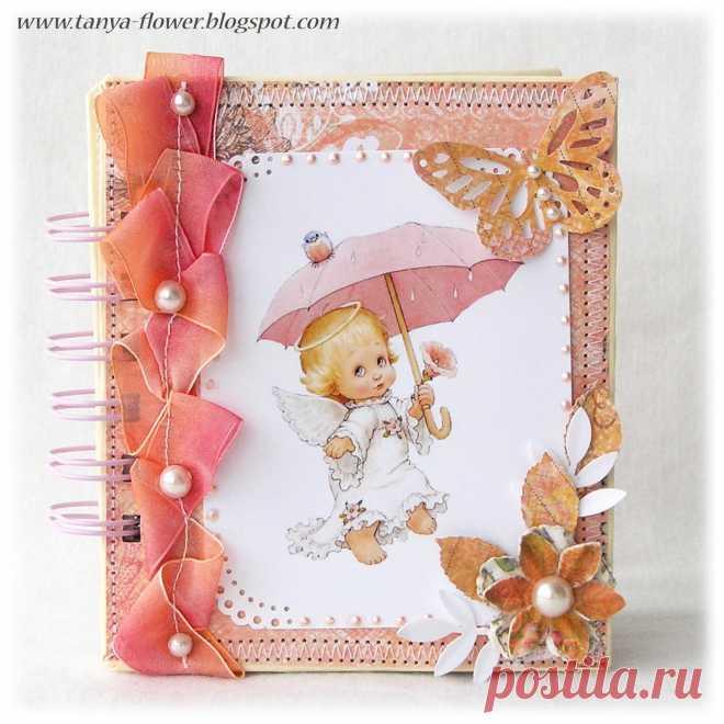 Пошаговой инструкцией, скрап открытки с ангелами