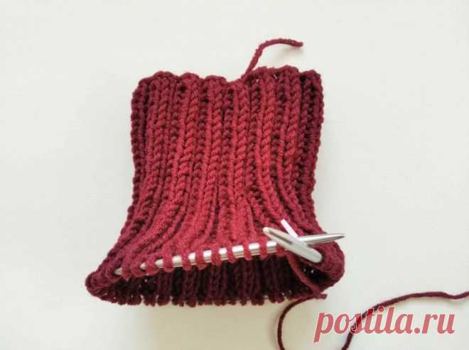 Вяжем простейший шарф-манишку спицами » «Хомяк55» - всё о вязании спицами и крючком
