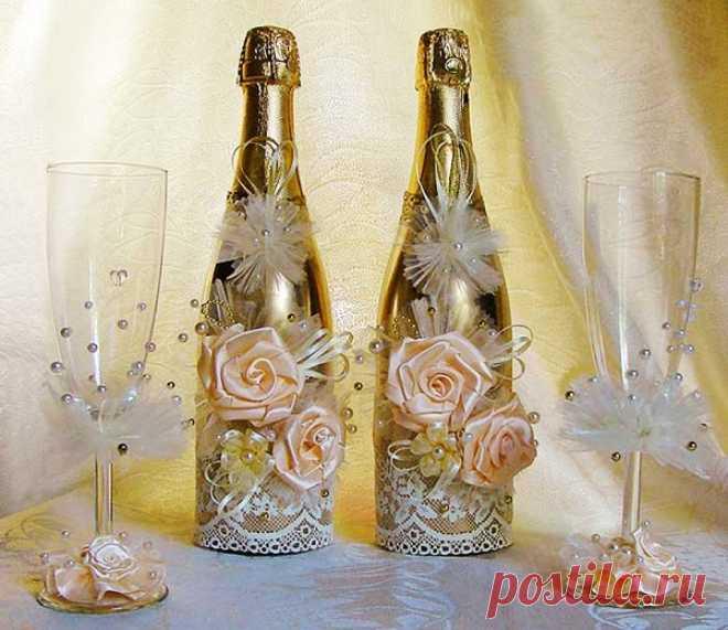 Как украсить свадебное своими руками
