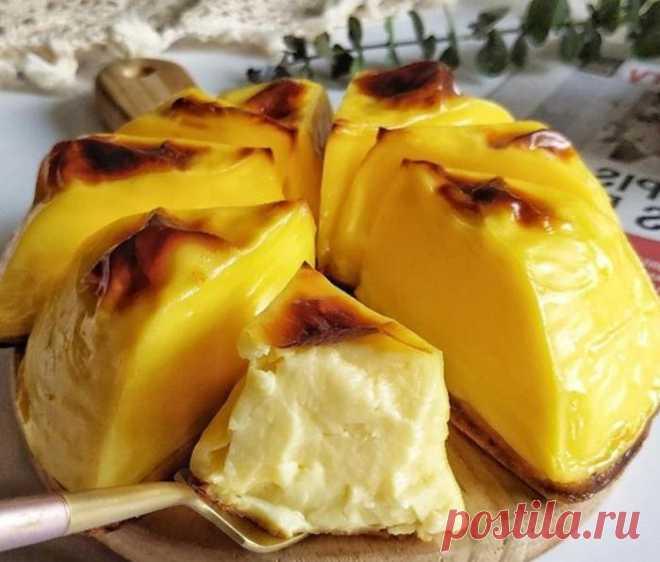 Запеченное в духовке молоко с сыром. Необычный и простой ароматный десерт